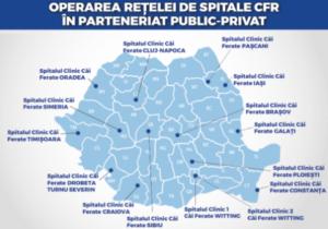 15 spitale CFR  vor fi lansate în operare prin parteneriat public-privat