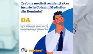 """Medicii rezidenți """"au obligația"""" să se înscrie în CMR!"""